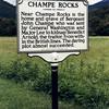 Seneca Rocks, WV: The roadside marker