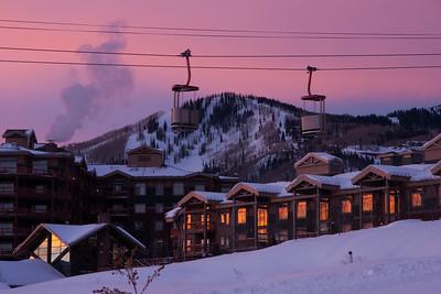 Canyons village Sunrise
