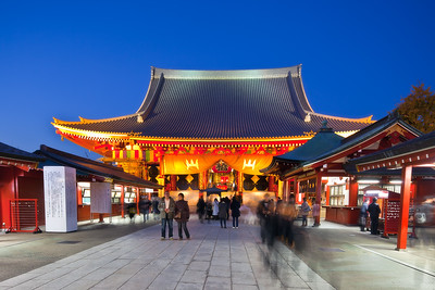 Senso-ji after sunset