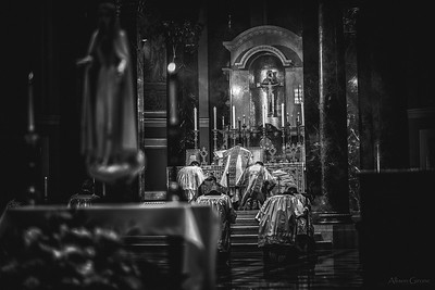 philly ascension latinmass cathedral basilica 28 b+w (1 of 1)