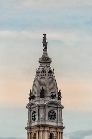 philly ascension latinmass city billy penn statue sunset (1 of 1)