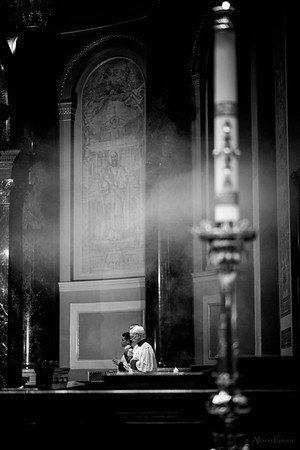 philly ascension latinmass cathedral basilica b+w incense (1 of 1)