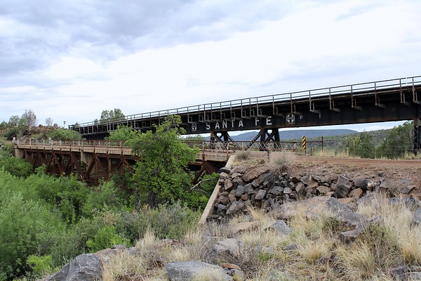 Historic highway and railroad bridges off US89 at Little Hell Canyon (2018)