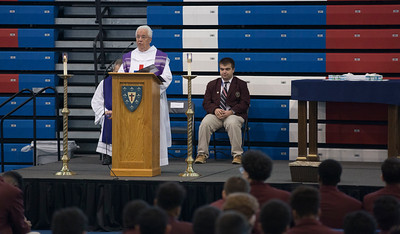 Ash Wednesday at DeMatha Catholic High School
