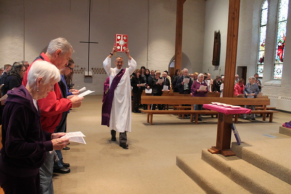 Ash Wednesday at The Church of Saint Peter in Saratoga Springs