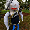 Ashburnham is being taken over by scarecrows which you can go see in the downtown. This one being called Killer Cheerleader was made by Peyton. SENTINEL & ENTERPRISE/JOHN LOVE