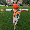 Ashburnham is being taken over by scarecrows which you can go see in the downtown. This one with a pumpkin head and rainbows was made by Elizabeth. SENTINEL & ENTERPRISE/JOHN LOVE