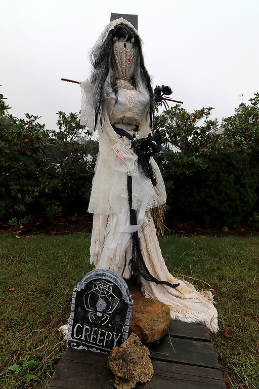 . Ashburnham is being taken over by scarecrows which you can go see in the downtown. This one named Violet was made by Olivia and Casey. SENTINEL & ENTERPRISE/JOHN LOVE