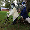 Ashburnham is being taken over by scarecrows which you can go see in the downtown. This one was made by the Ashburnham Rail Trail Community. SENTINEL & ENTERPRISE/JOHN LOVE