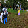Ashburnham is being taken over by scarecrows which you can go see in the downtown.The one here are on lawn of the Town Hall. SENTINEL & ENTERPRISE/JOHN LOVE