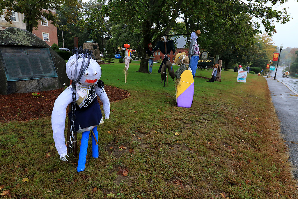 . Ashburnham is being taken over by scarecrows which you can go see in the downtown.The one here are on lawn of the Town Hall. SENTINEL & ENTERPRISE/JOHN LOVE
