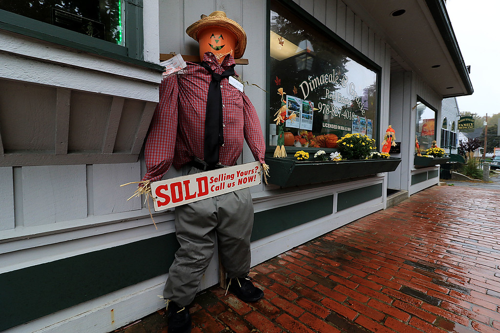 . Ashburnham is being taken over by scarecrows which you can go see in the downtown. This one was made by DiMacale & Gracie Real Estate. SENTINEL & ENTERPRISE/JOHN LOVE
