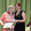 Ashburnham-Westminster Special Education Parent Advisory council held their first remarkable inspiration in special education awards on Thursday, May 3, 2018. Special Education Teacher at Overlook Middle School Karsa Hirons, on right, stands with SEPAC Co-Chair Kendra Steucek as she receives one of the award at the event. SENTINEL & ENTERPRISE/JOHN LOVE