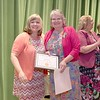 Ashburnham-Westminster Special Education Parent Advisory council held their first remarkable inspiration in special education awards on Thursday, May 3, 2018. Extended Day Program Director at J.R. Briggs Elementary School Dorene Francis, on right, stands with SEPAC Co-Chair Kendra Steucek as she receives one of the award at the event. SENTINEL & ENTERPRISE/JOHN LOVE