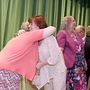 Ashburnham-Westminster Special Education Parent Advisory council held their first remarkable inspiration in special education awards on Thursday, May 3, 2018. Special Education teacher at J.R. Briggs Elementary School Renee Caldwell is given a hug by SEPAC Co-Chair Kendra Steucek  as she receives one of the award at the event. SENTINEL & ENTERPRISE/JOHN LOVE