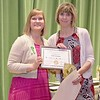 Ashburnham-Westminster Special Education Parent Advisory council held their first remarkable inspiration in special education awards on Thursday, May 3, 2018. Special Education Teacher at Westminster Elementary School & Meeting house School Kelly Gastonguay, on right, stands with SEPAC Co-Chair Kim Caisse as she receives one of the award at the event. SENTINEL & ENTERPRISE/JOHN LOVE
