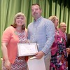 Ashburnham-Westminster Special Education Parent Advisory council held their first remarkable inspiration in special education awards on Thursday, May 3, 2018. J.R. Briggs Elementary School Adjustment Counselor/Therapist William Foss stands with SEPAC Co-Chair Kendra Steucek as he receives one of the award at the event. SENTINEL & ENTERPRISE/JOHN LOVE