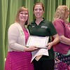 Ashburnham-Westminster Special Education Parent Advisory council held their first remarkable inspiration in special education awards on Thursday, May 3, 2018. Special Education Teacher Oakmont High School Brittany Smeltekop, on right, stands with SEPAC Co-Chair Kim Caisse as she receives one of the award at the event. SENTINEL & ENTERPRISE/JOHN LOVE