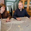 Beth Ann and Harald Scheid show off their plans for a compact living community in Ashby on Wednesday April 5, 2017. SENTINEL & ENTERPRISE / Ashley Green