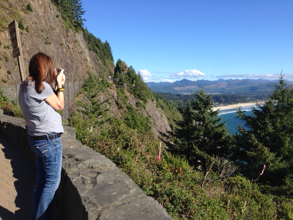 My friend Heather took some pictures of me shooting while we were expolring Oregon.