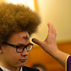 KRISTOPHER RADDER — BRATTLEBORO REFORMER<br /> Jack Leggiere, a 10th-grader at St. Michael's Catholic School, in Brattleboro, Vt., receives ashes from Father Justin Baker, of St. Michael's Catholic Church, during an Ash Wednesday service at St. Michael's Catholic Church on Wednesday, Feb. 26, 2020.