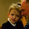 KRISTOPHER RADDER — BRATTLEBORO REFORMER<br /> George Friend, of Newfane, Vt., holds his granddaughter, Juliette, 3, during an Ash Wednesday service at St. Michael's Catholic Church, in Brattleboro, Vt., on Wednesday, Feb. 26, 2020.