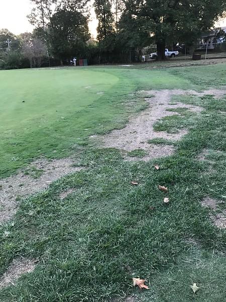 #15 Green at Asheville Municipal Golf course.