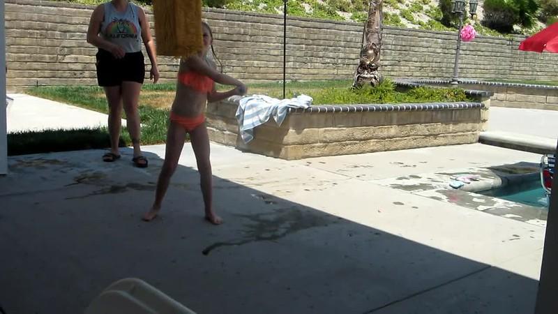 Video of swinging at the pinata