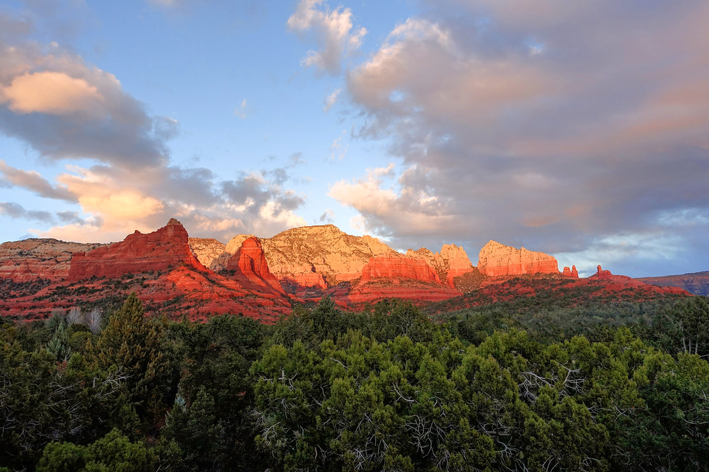 Sphinx Mountain Sunset, Sedona, Arizona (c) 2014