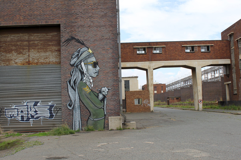 """Soweto Factory Grafitti. Digital photography on canvas stretched over frame. 30""""x40"""" (c) 2011"""