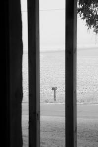 Farm house - window art - through window looking north - 1
