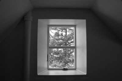Farm house - window art - through window looking north - 2