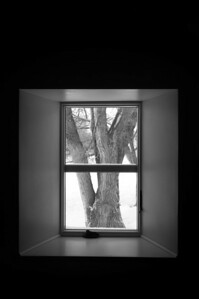 Farm house - window art - through window looking east - 4