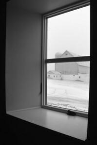 Farm house - window art - through window looking east