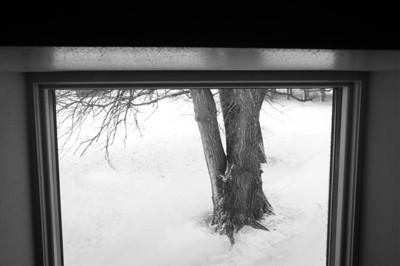 Farm house - window art - through window looking east - 1