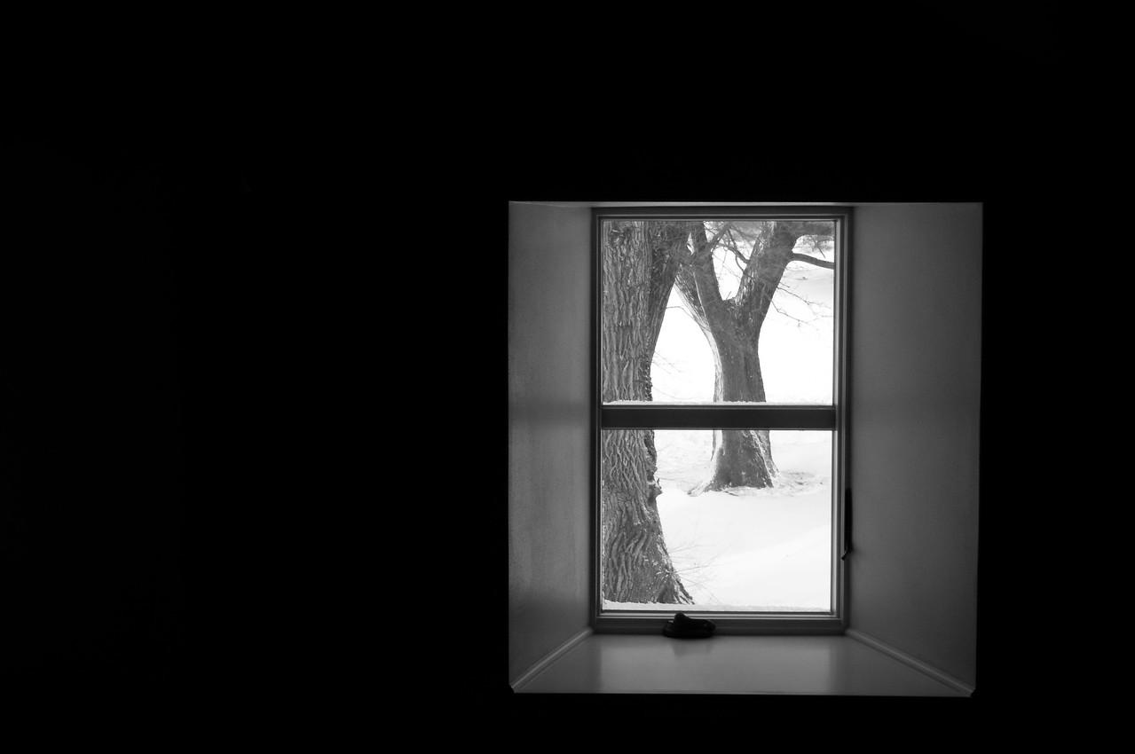 Farm house - window art - through window looking east - 2