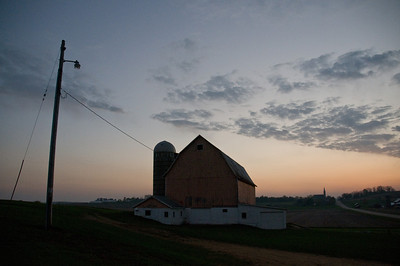Farmstead - scenic - looking west at sunset - 1