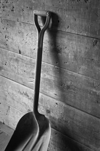 Farmstead - building - granary - dad's old shovel