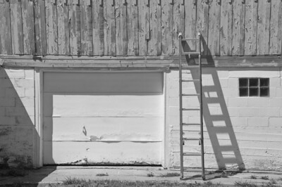 Farmstead - building - barn - ladder