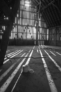 Farmstead - building - barn - shadows in haybarn - 2