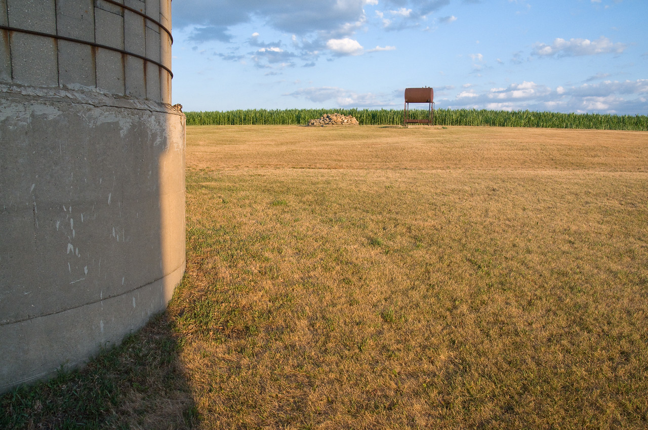 Farmstead - scenic - looking south from silo to gas tank