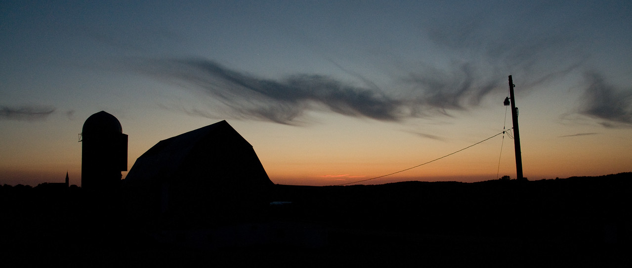 Farmstead - scenic - looking west at sunset - 2