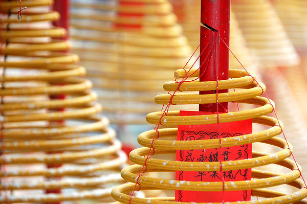 Incense coils, Buddhist monastery, Macau