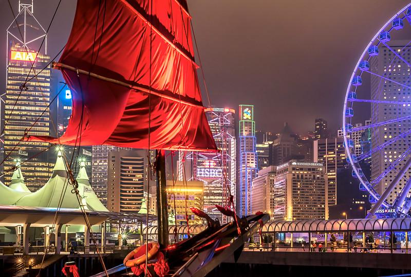 Central Waterfront at Night, Hong Kong