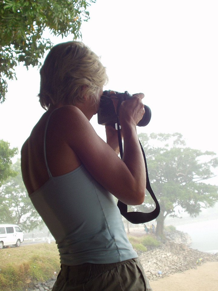 sally with camera
