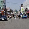 Further along the main road. This is mostly pedestrian traffic, it is filled with people at night.