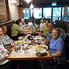 Friends  gather for lunch at Japanese restaurant Singapore