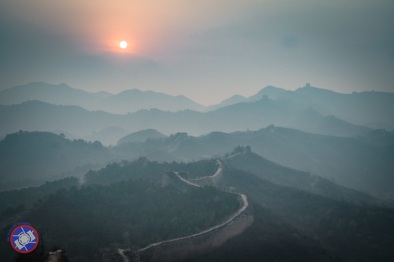 Sunrise at a More Remote Section of the Great Wall of China (©simon@myeclecticimages.com)