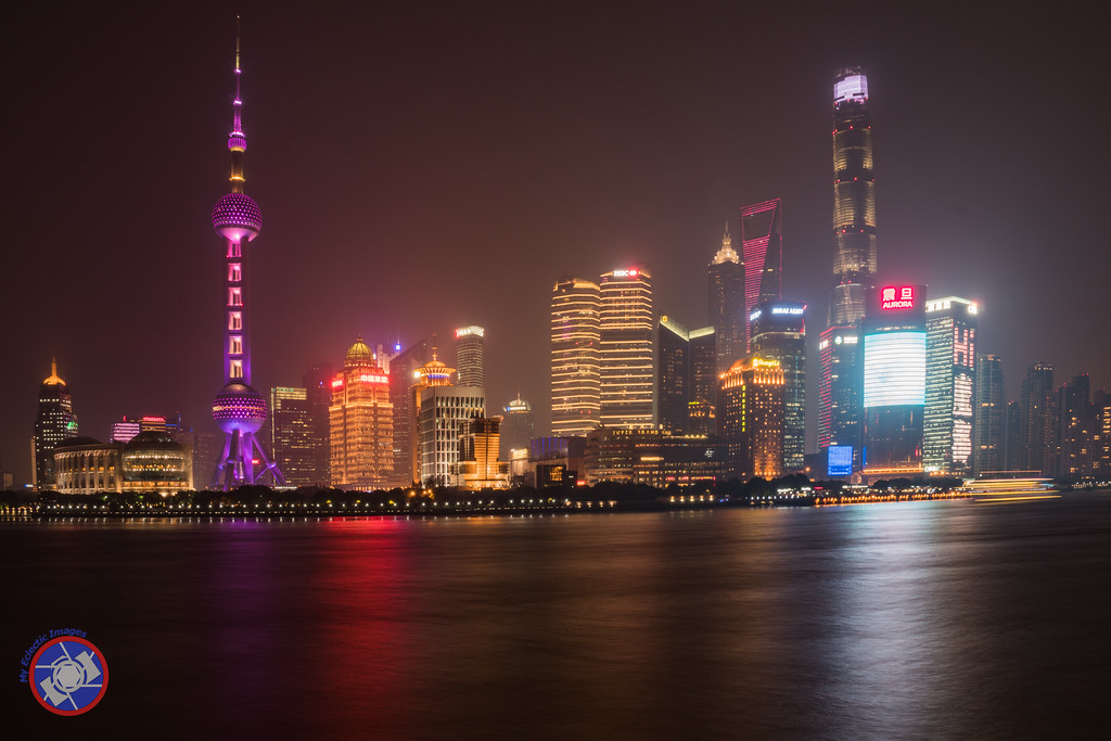 Shanghai Skyline at Night (©simon@myeclecticimages.com)