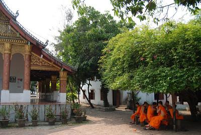 monks near a wat